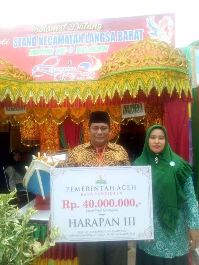 Langsa Fair 2018, Gampong Kuala Langsa Raih Juara Terbaik se Aceh