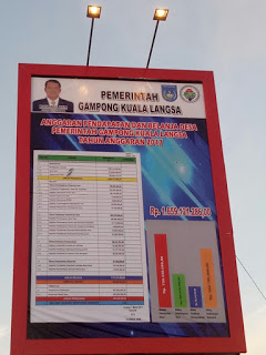 Patut Dicontoh ! Transparansi Penggunaan Dana Desa Gampong Kuala Langsa